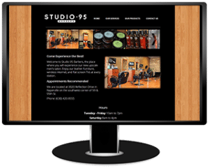 Studio 95 Barbers Website