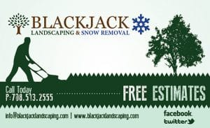 BlackJack Landscaping Business Cards