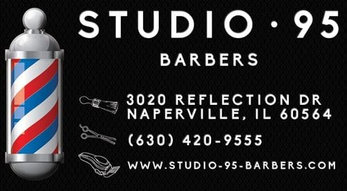 Studio 95 Barbers Business Card