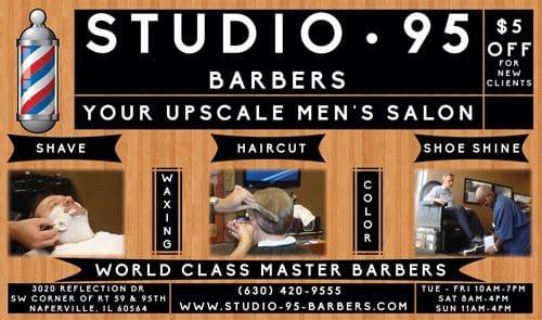 Studio 95 Barbers Flyer