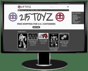 215Toyz Website