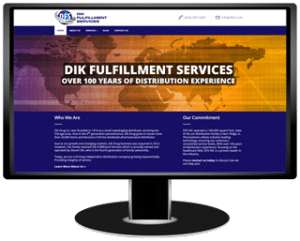 Dik Fulfillment Services Website