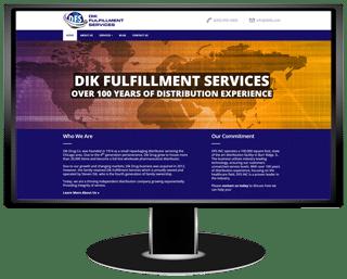 Dik Fulfillment Services Website