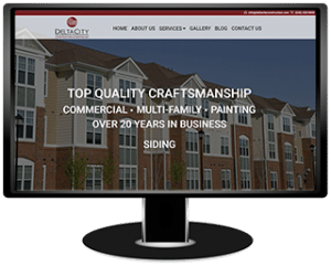 Delta City Construction Website