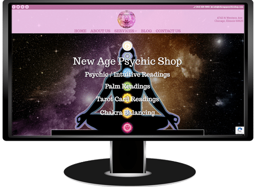 New Age Psychic Shop Website