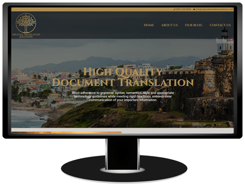 Original Translation Solutions Website
