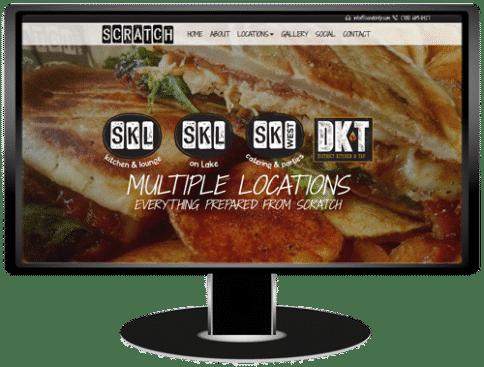 Scratch Restaurants Website