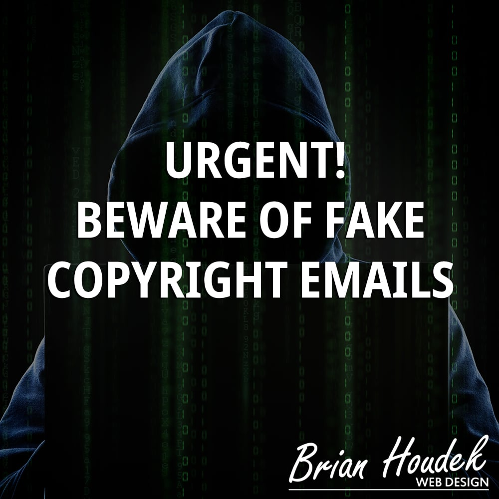 Urgent! Beware of Fake Copyright Emails